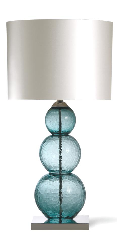 InStyle-Decor.com Designer Crackled Blue Art Glass Table Lamp .