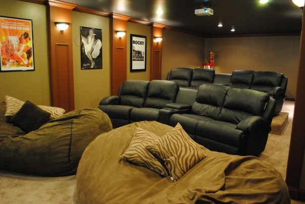Pretty oversized bean bags in Home Theater Modern with Beanbag .