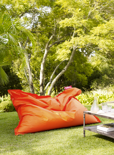 Outdoor | Lounging | Oversized beanbag | Burnt orange | Modern .