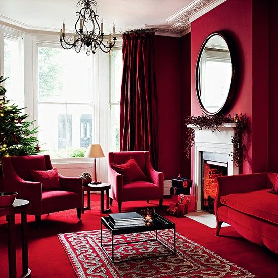 Christmas living room decorating ideas – Living room for Christmas .