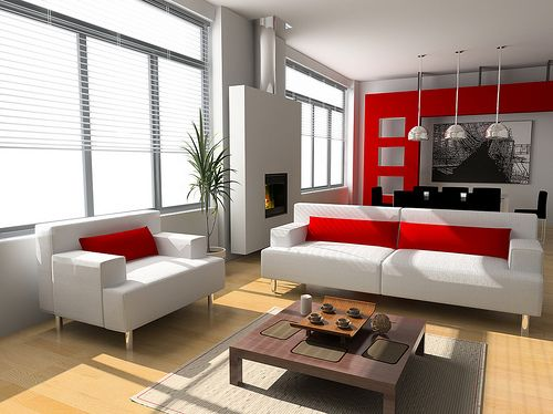 100+ Best Red Living Rooms Interior Design Ideas | Living room red .