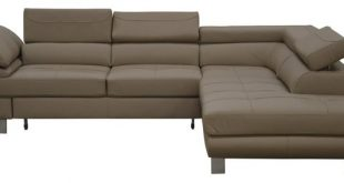LOTUS Leather Sectional Sleeper Sofa, Right Corner - Contemporary .