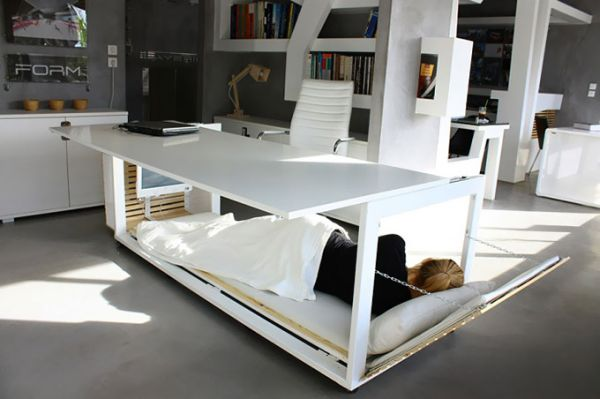 The ingenious Desk Convertible Bed, perfect for small spac