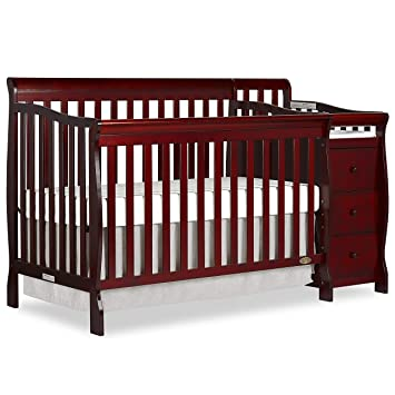 convertible crib with changing table   attached