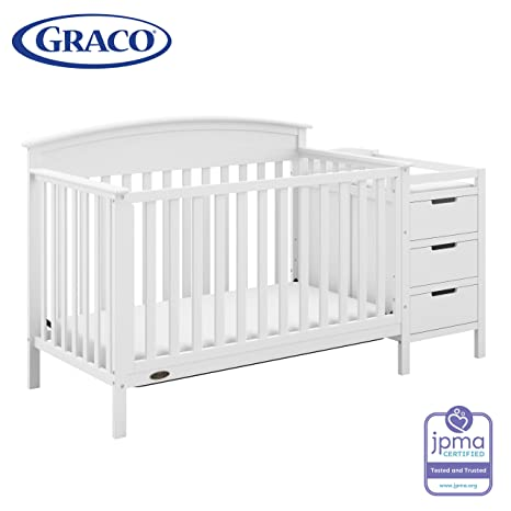 Amazon.com : Graco Benton 4-in-1 Convertible Crib and Changer .