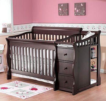 I like the change table combo | Black baby cribs, Convertible crib .