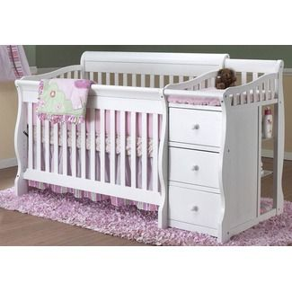 Sorelle Tuscany 4 in 1 Convertible Crib and Changer Combo | Crib .