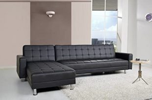 Amazon.com: Gold Sparrow Frankfort Convertible Sectional Sofa Bed .