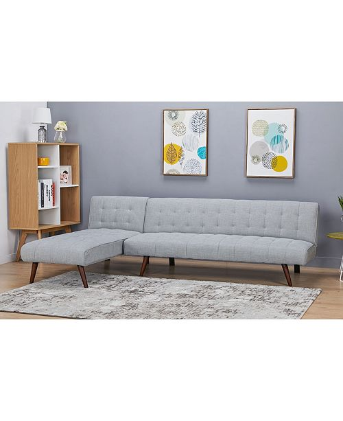 Gold Sparrow Shelton Convertible Sectional Sofa Bed & Reviews .