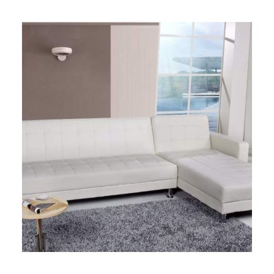 Frankfort Convertible Sectional Sofa Bed in White - Sectionals .