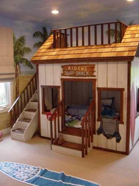 Coolest bunk bed room #HomeandGarden | Chambres avec lits .