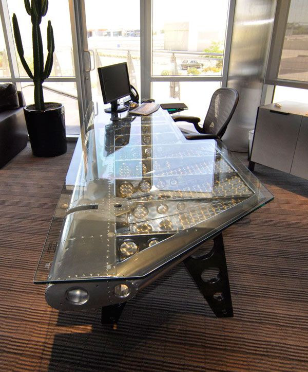 35 Cool Desk Designs for Your Home | Aviation furniture, Man cave .
