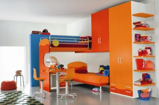 Contamporary Kids Room With Colorful Modern Kids Furnitu
