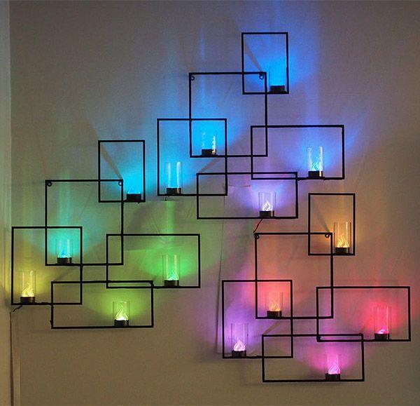 LED Wall Decoration. | Идеи для украшения, Украшение стен .