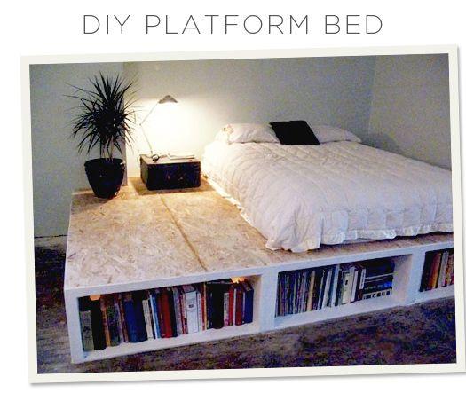 Look! DIY Platform Bed With Storage | Diy platform bed, Platform .