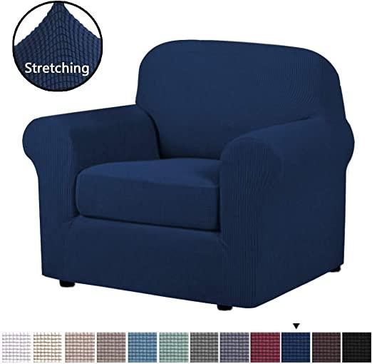 Amazon.com: H.VERSAILTEX High Stretch 2-Piece Armchair Cover/Sofa .