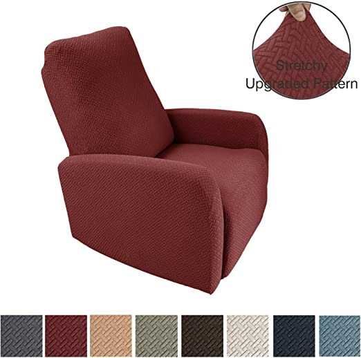 Amazon.com: Obytex 4 Pieces Stretch Recliner Chair Cover Polyester .