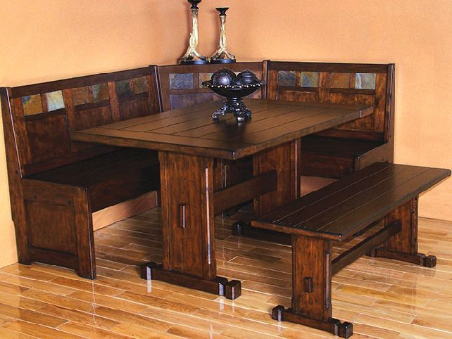 Rustic Corner Dining Room Table Se