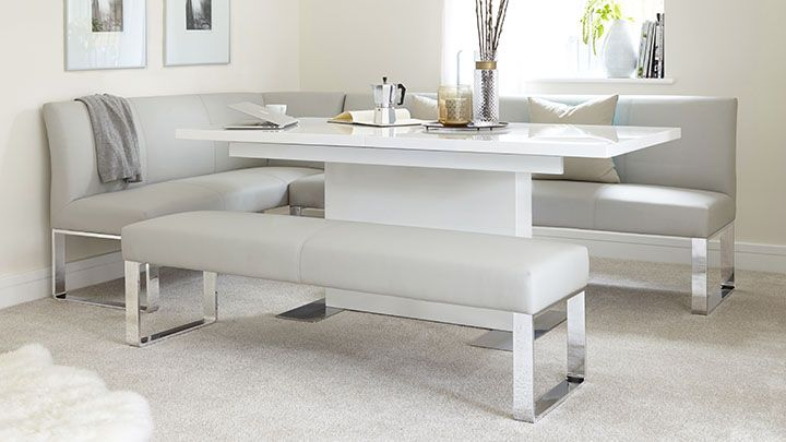 Loop 7 Seater Right Hand Corner Bench in 2020 | Dining corner .