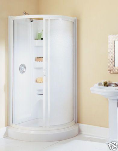 American Shower Bath 422007 Round Corner Bathroom Shower Stall .