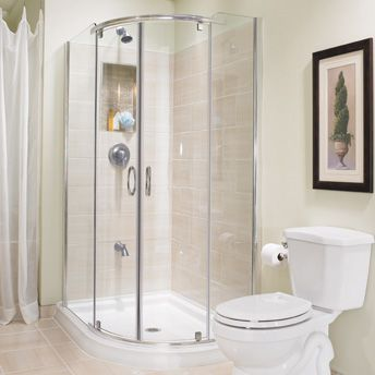 Four Impressive Walk In Shower Ideas | Shower stall, Corner shower .