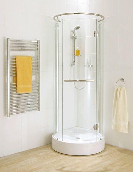 Small round shower | Shower stall, Small shower stal