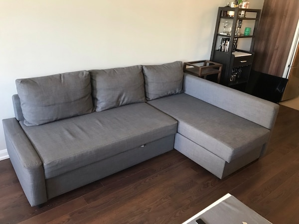 Used IKEA FRIHETEN Corner sofa - bed with storage for sale in .