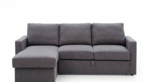 Lydia - Corner Unit Sofa Bed With Storage In Grey Fabric   Sofa .