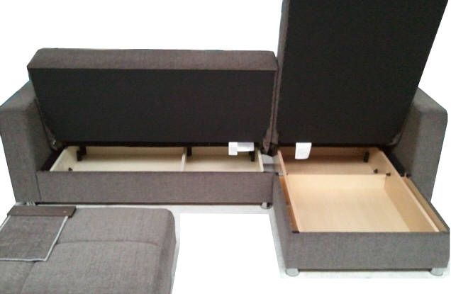 Malaga luxury corner sofa bed   sofabed l shaped with storage .