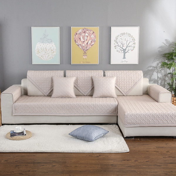 L Shaped Sofa Cover Slip Sofa Slipcovers Cotton Non Slip .