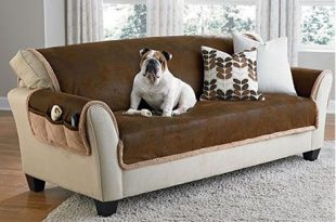 Sure Fit Slipcovers Vintage Leather Furniture Cover - sofa pet .