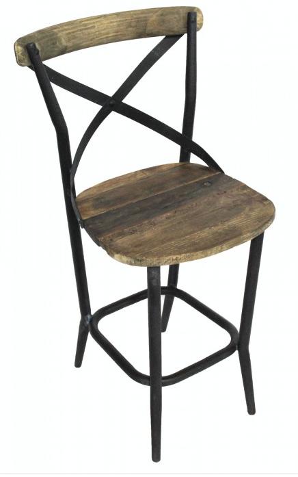 Iron X Back Counter Height Bar Stool – Denio's Furnitu