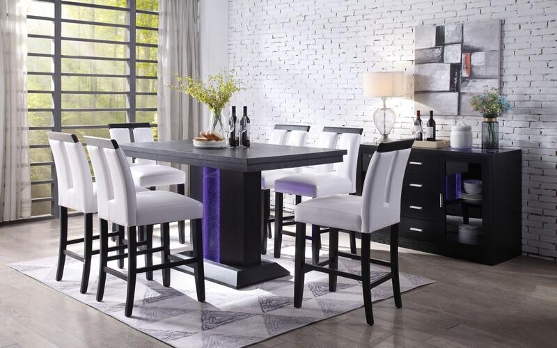 Acme | 70655 Bernice Counter Height Dining Room Set | Dallas .