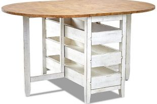Furniture Neighbors Round Counter Height Drop Leaf Table & Reviews .