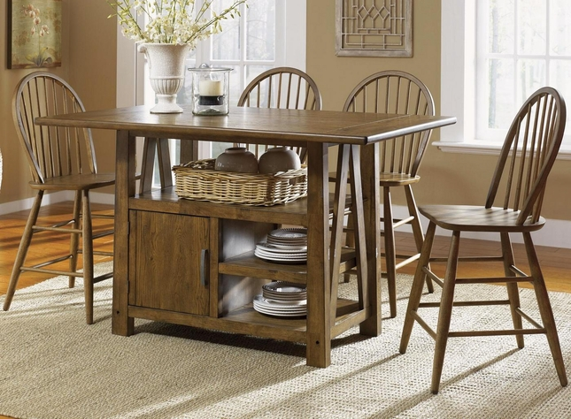 Farmhouse Counter Height Table Set | Casual Dining Table S