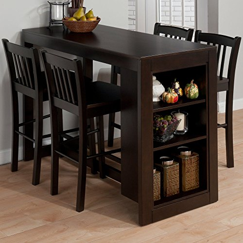 Jofran Maryland Counter Height Storage Dining Table - Great Bartend