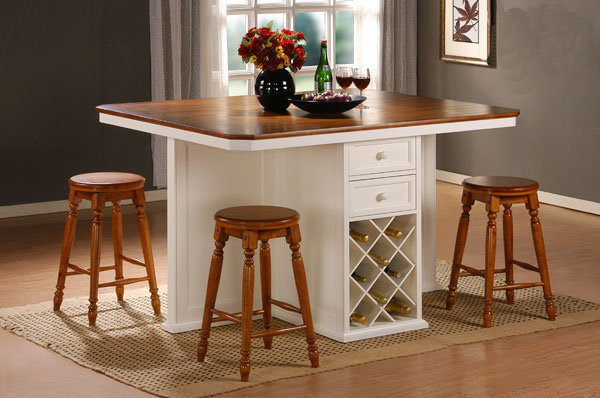 Counter height kitchen table with storage | | Kitchen ide
