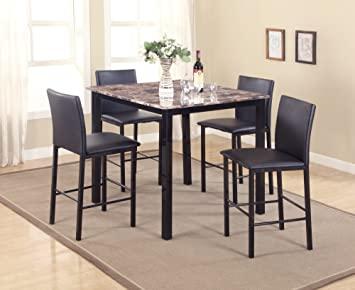 Amazon.com - Roundhill Furniture 5 Piece Citico Counter Height .
