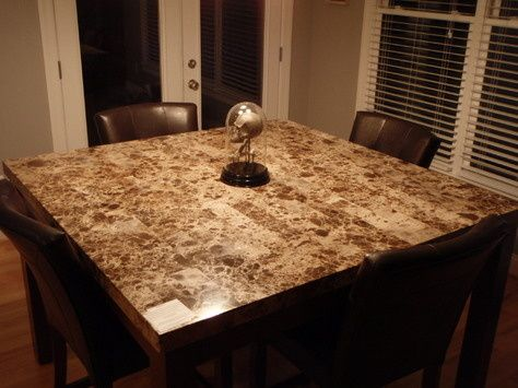 Counter Height Marble Top Dining Table -Love it | Marble top .
