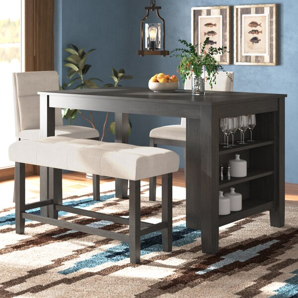 Foundry Select Derrick 4 Piece Counter Height Dining Set & Reviews .