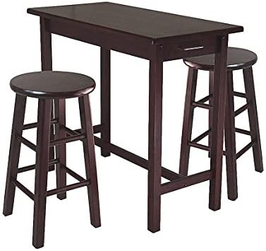 Amazon.com - RA Counter Height Pub Table Set Counter Round Stools .