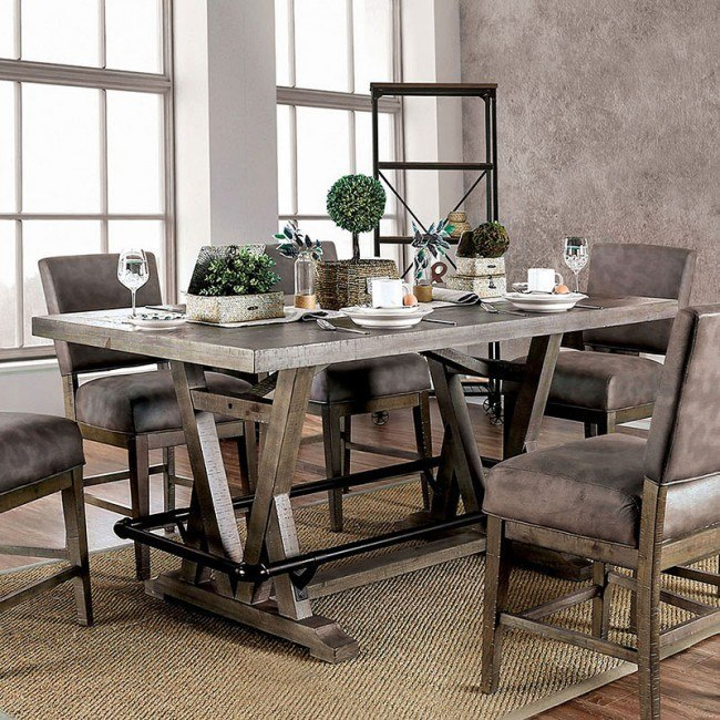 Tabor Counter Height Table Furniture Of America | Furniture Ca