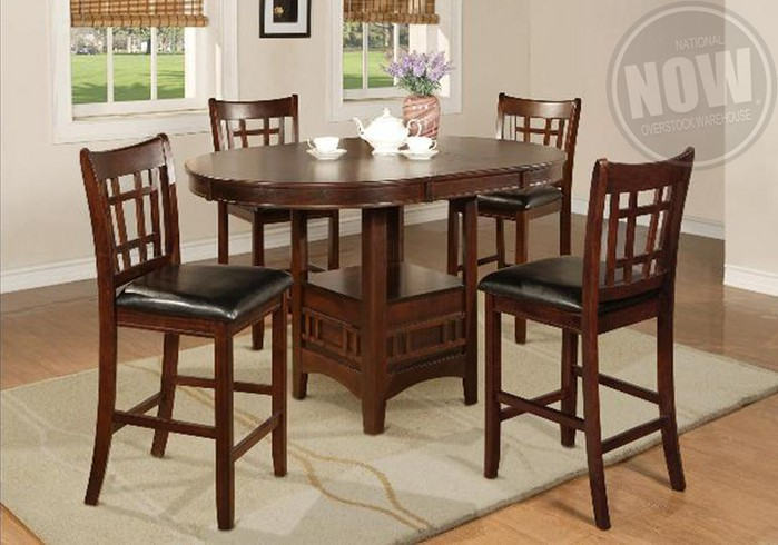 Hartwell Counter Height Dining Table and 6 Side Chairs .