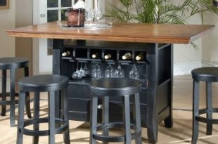 5-pc Chatham County Rectangular Counter Height Wine Storage Table .