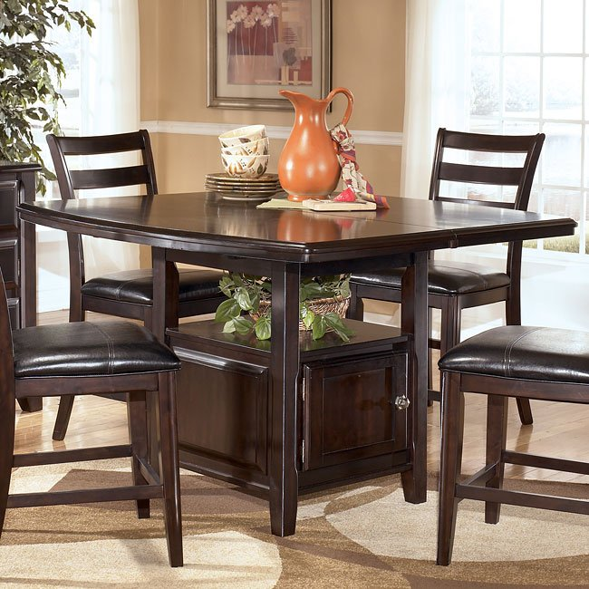 Ridgley Counter Height Table W/ Storage Signature Design .