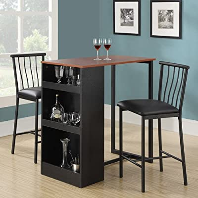 Amazon.com - Isla 3 Piece Counter Height Dining Set with Storage .