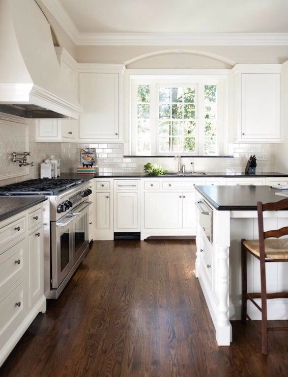 white kitchen with black countertops | Kitchen renovation, Home .
