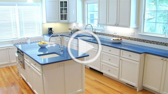 blue countertops with white cabinets - Google Search | Blue .