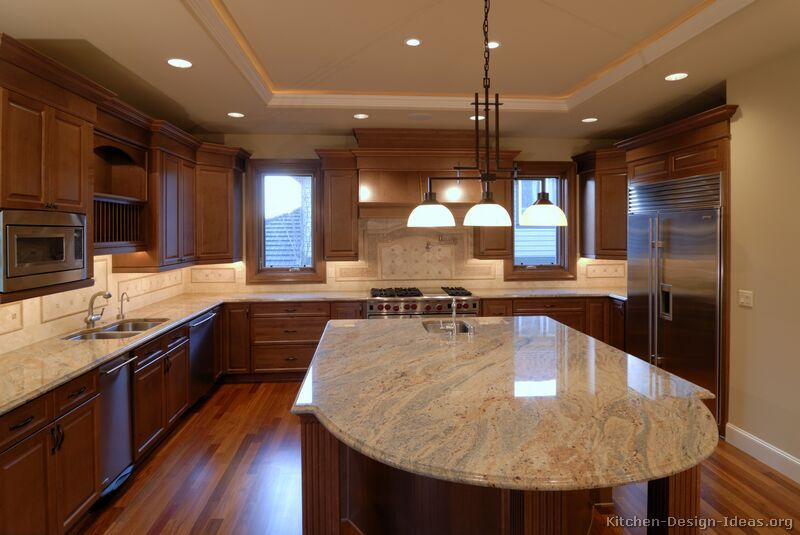 Pictures of Kitchens - Traditional - Medium Wood Cabinets, Brown .