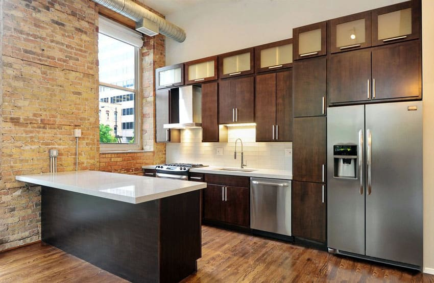 27 Small Kitchens with Dark Cabinets (Design Ideas) - Designing Id
